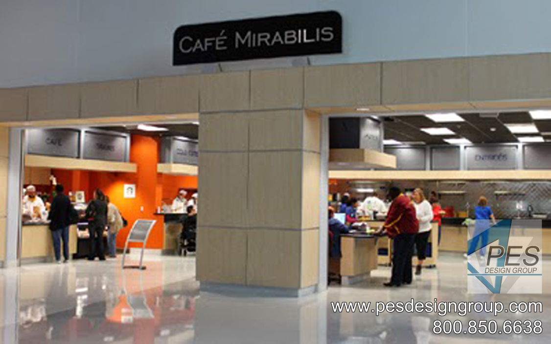 A view of the Cafe Mirabilis food court at Manatee Technical College in Bradenton Florida.