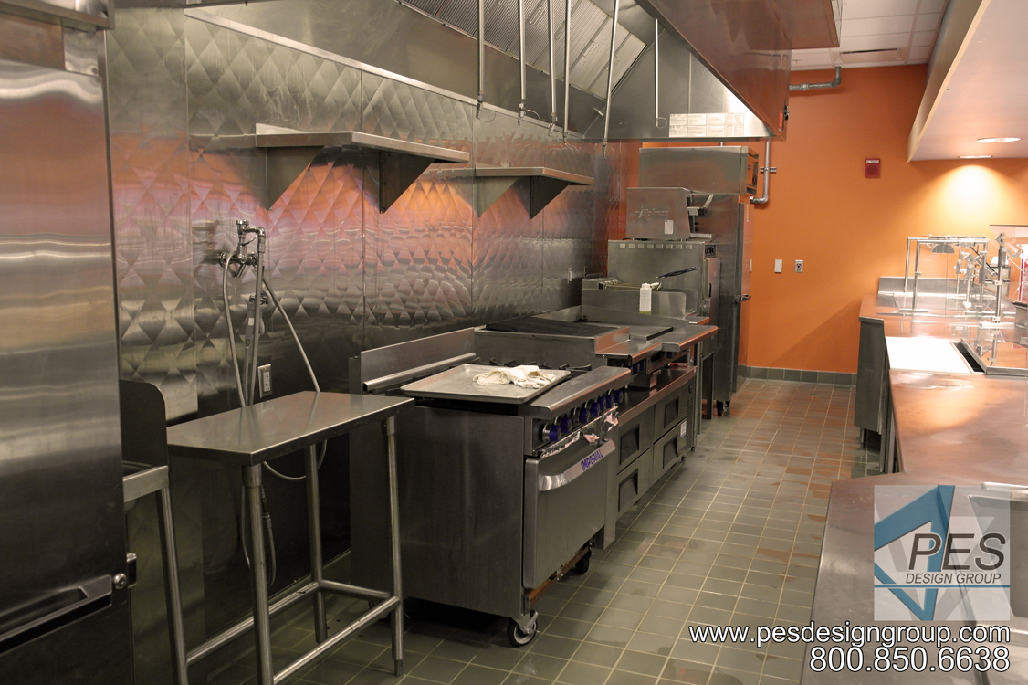The short order cookline in the Cafe Mirabilis food court at Manatee Technical College in Bradenton Florida.