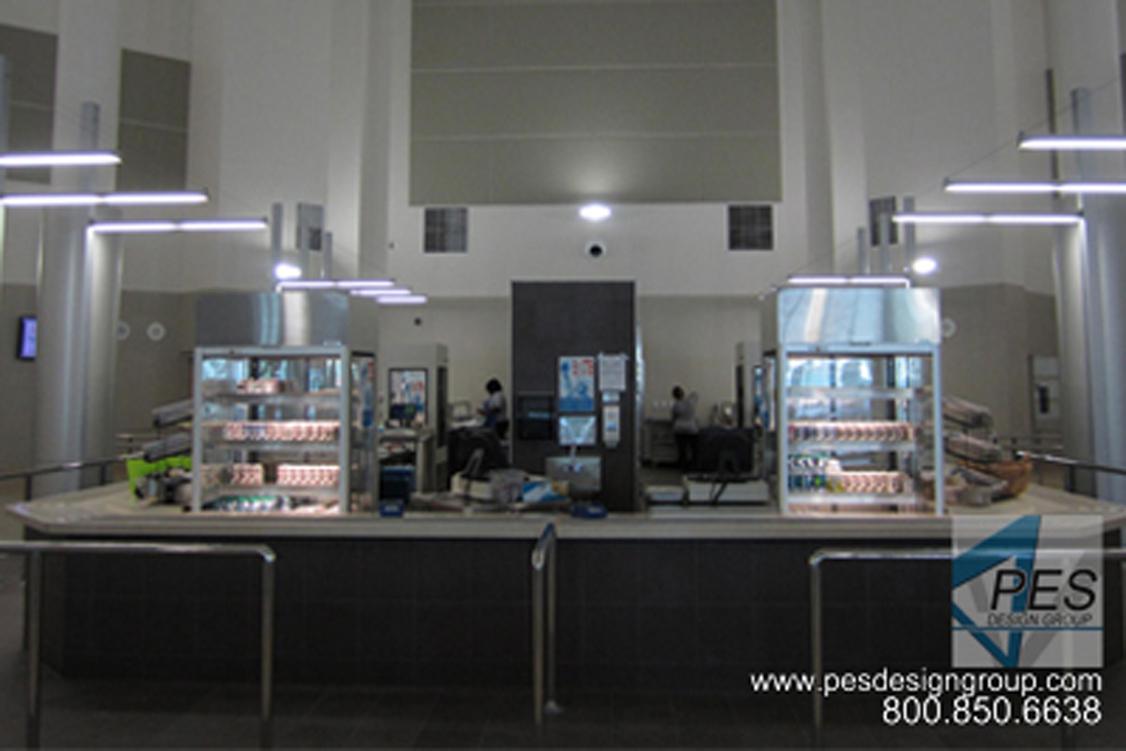Innovative student foodservice and cafeteria design at Venice High School in Venice Florida.