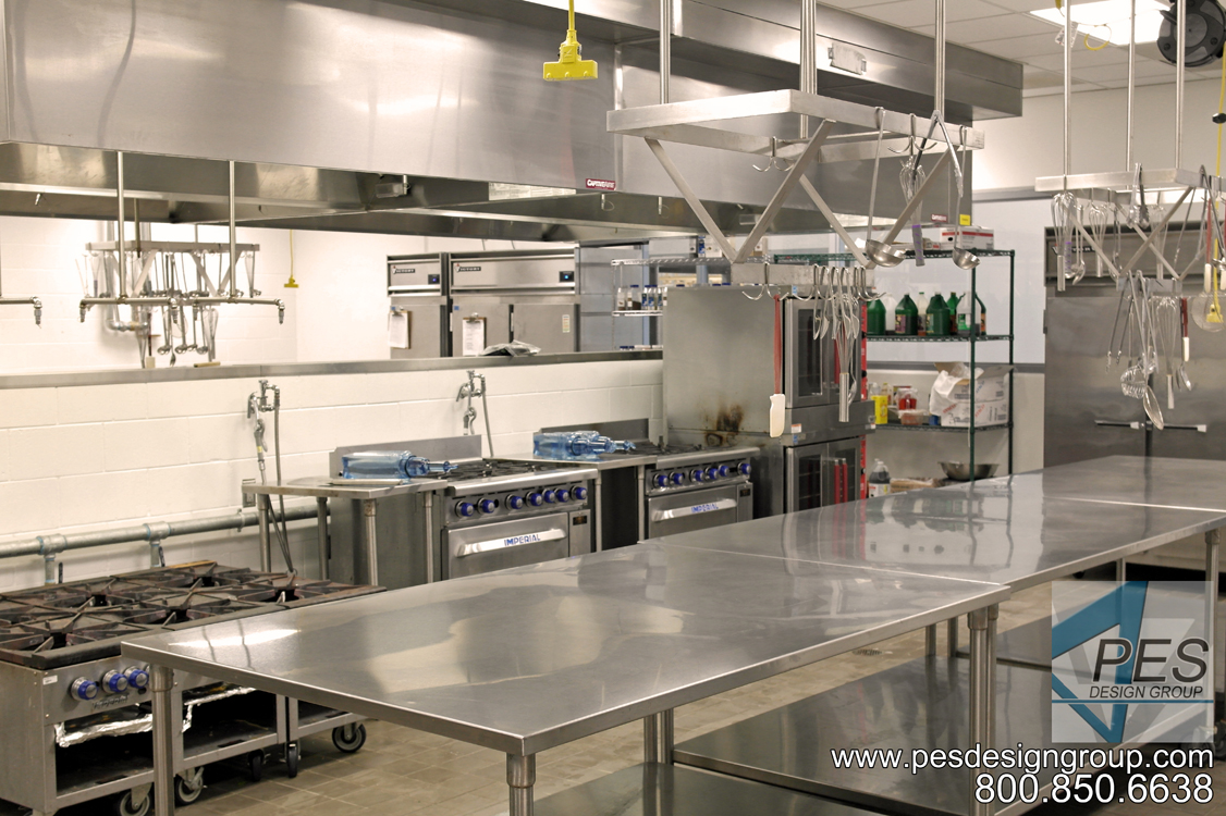 Convection ovens and ranges in Manatee Technical College's culinary teaching kitchen in Bradenton Florida.