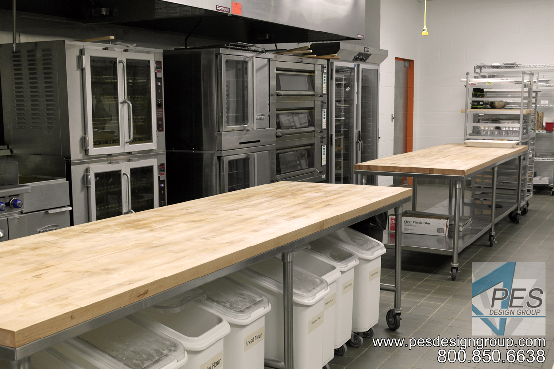 Convection and baking ovens in the bakery at Manatee Technical College's culinary teaching kitchen in Bradenton Florida.