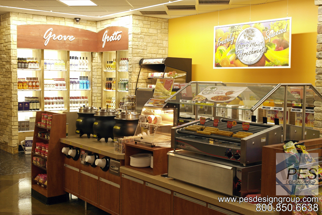 A look at roller grills and soup kettles in the self-serve food service area at Grove Mart Shell in Lake in the Hills, IL.