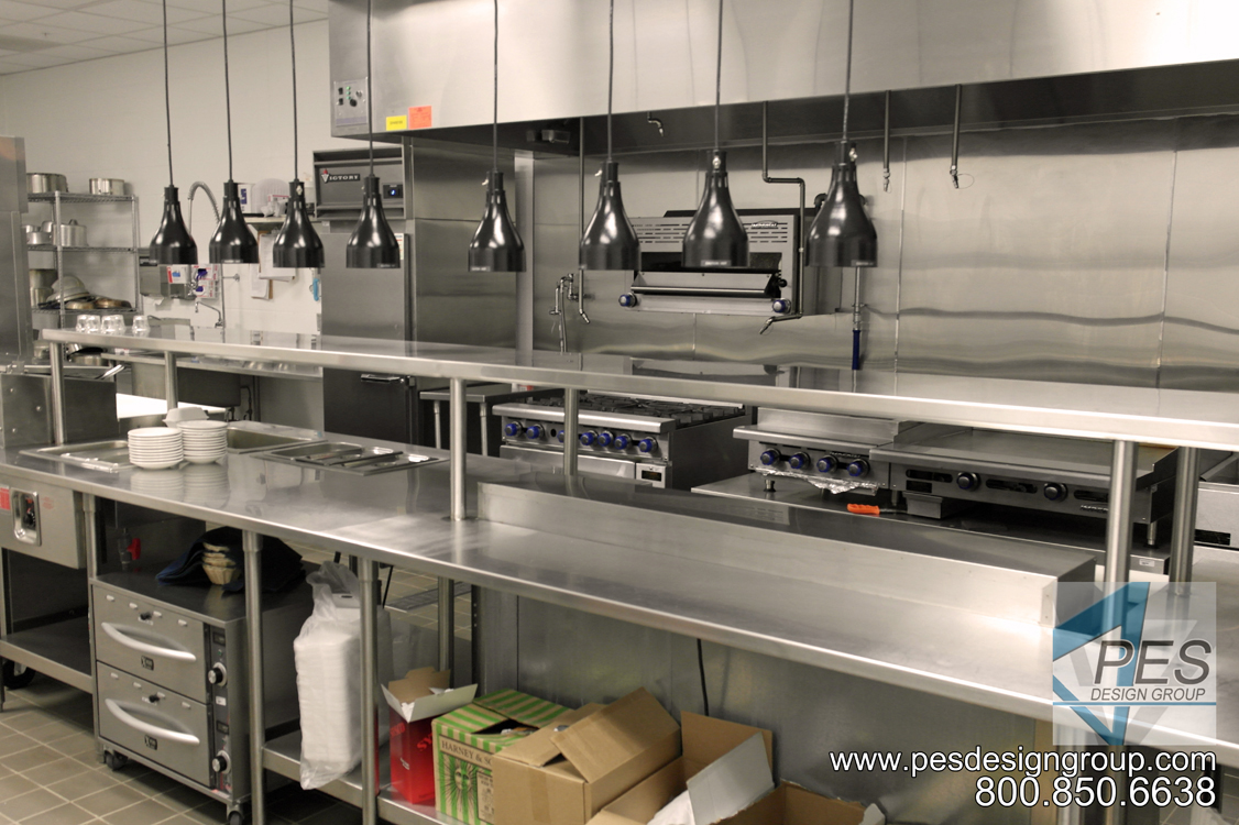 A look at The Whetstone restaurant kitchen. The Whetstone is the fine dining area of the culinary arts training facility of Manatee Technical College in Bradenton, Florida.