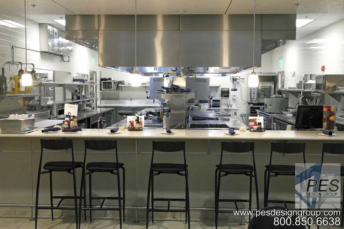 The open kitchen concept design of Bistro 502 in Sarasota Florida.