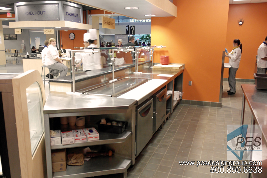 The service side of the deli in the Cafe Mirabilis food court at Manatee Technical College in Bradenton Florida.
