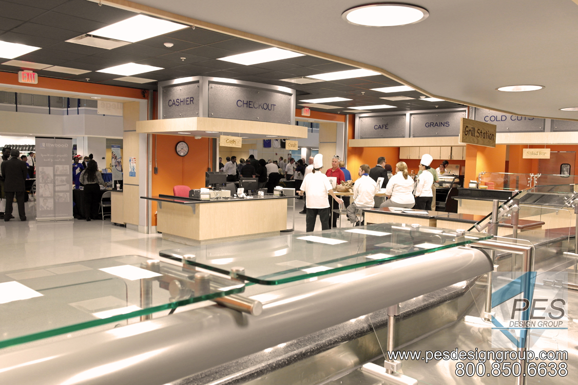 A higher ed food court at Manatee Technical College in Bradenton Florida.