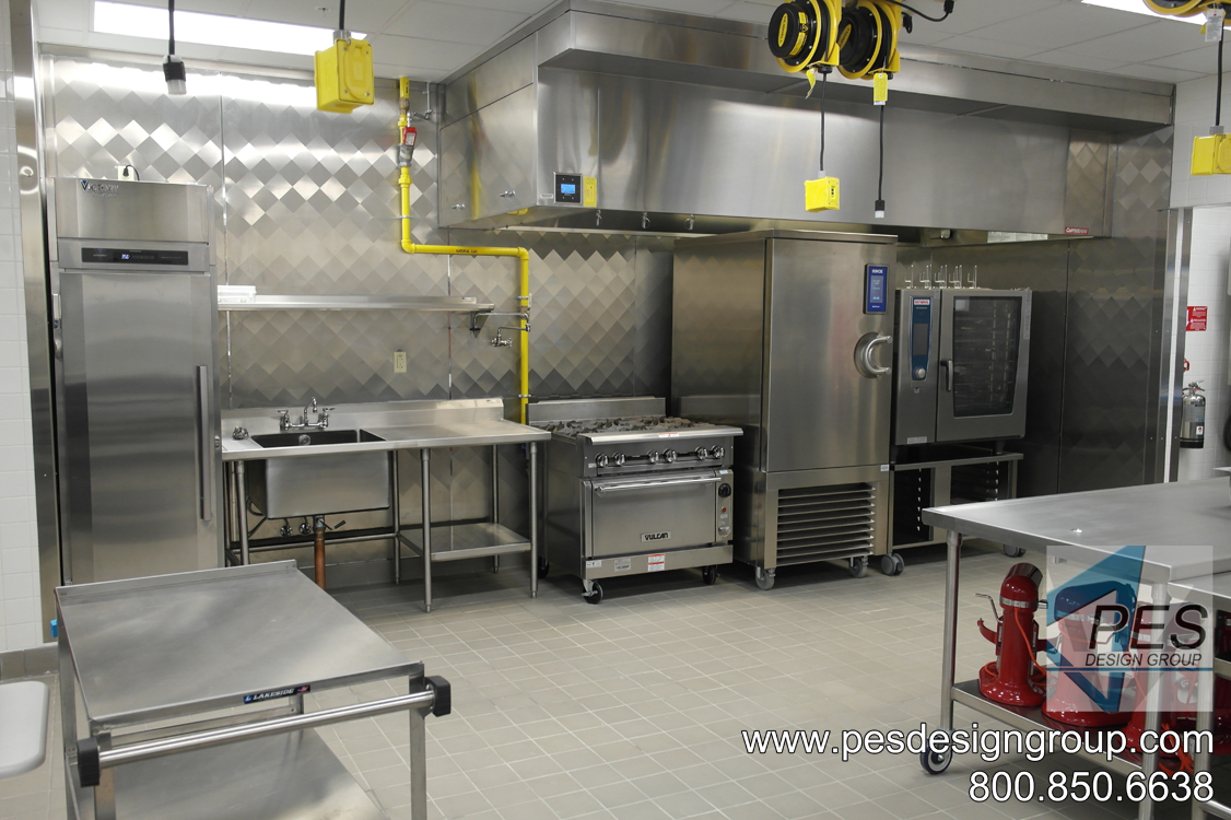A view of the culinary teaching lab at Suncoast Technical College's culinary teaching kitchen in North Port, Florida.