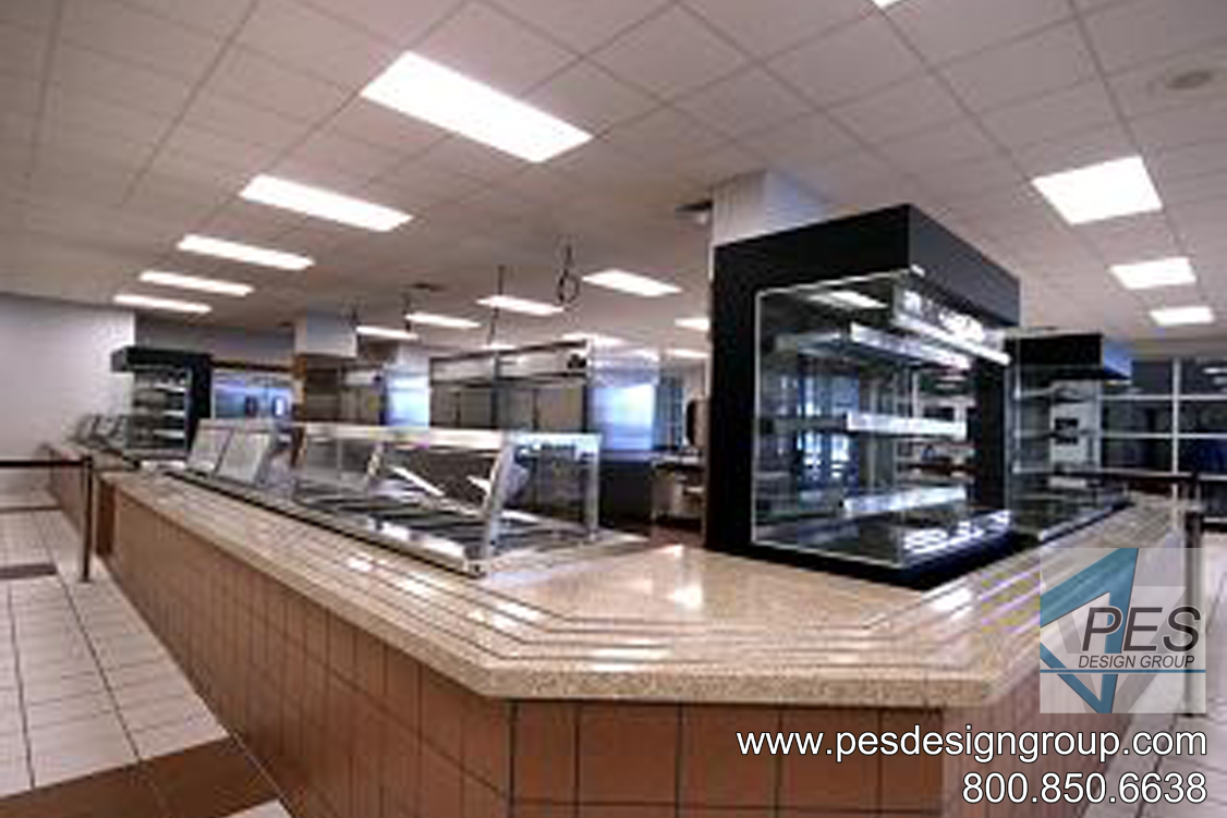 Innovative student foodservice and cafeteria design at Riverview High School in Sarasota Florida.