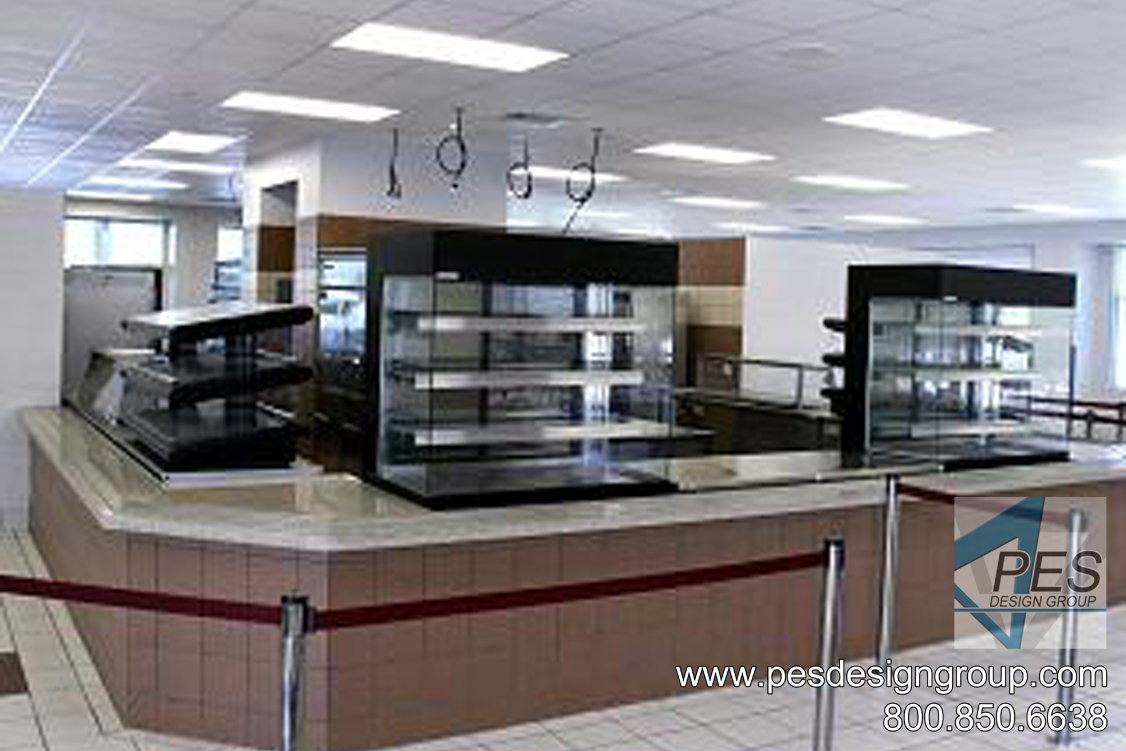 Innovative student grab-n-go foodservice and cafeteria design at Riverview High School in Sarasota Florida.