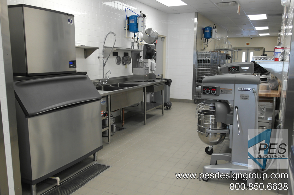 A view of the kitchen prep area at Suncoast Technical College's culinary teaching kitchen in North Port, Florida.