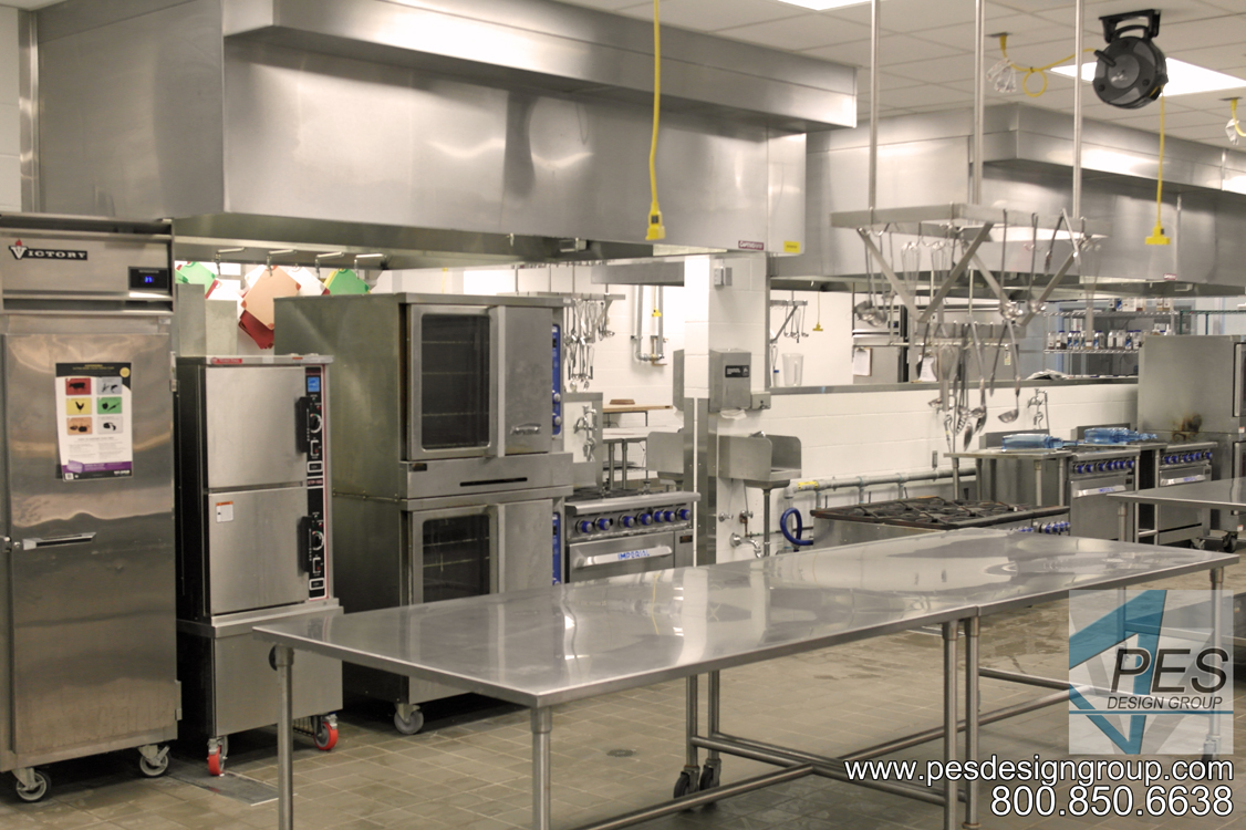 Convection ovens and steamer in Manatee Technical College's culinary teaching kitchen in Bradenton Florida.