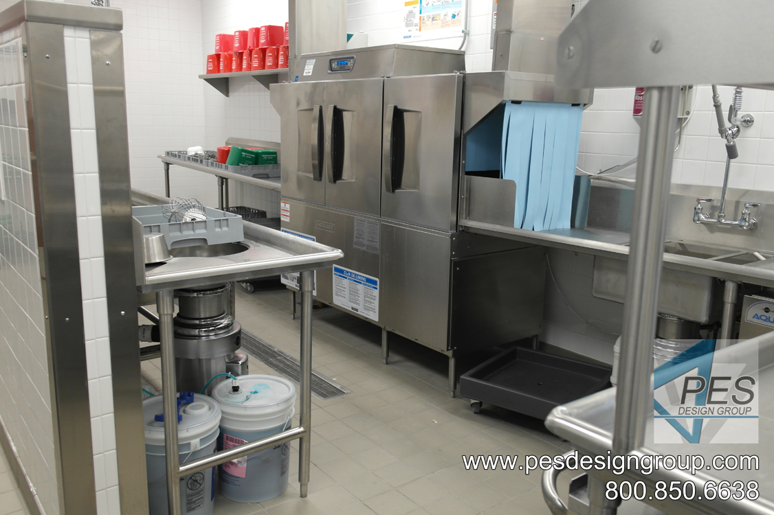 A look at the water saving energy recovery dishwasher at Suncoast Technical College's culinary teaching kitchen in North Port, Florida.